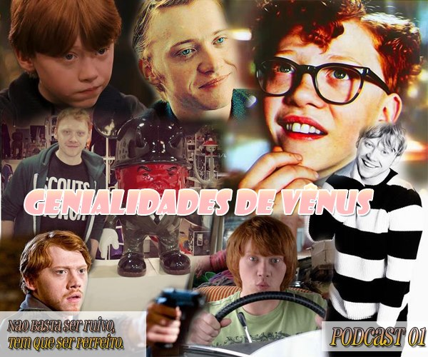 Neste primeiro podcast Anne, Andye, Van Vet e Lana conversam sobre Rupert Grint, o ruivo que deu vida a Rony Weasley, personagem da saga Harry Potter. Venham descobrir um pouco sobre as curiosidades e a ascendente filmografia do ator, tudo numa análise muito tiete e nada profissional.