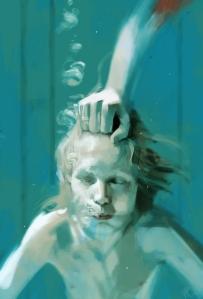 Arte baseada em cena antológica do filme sueco.