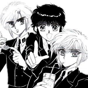 Da esquerda para direita Suoh, Akira e Nokoru.