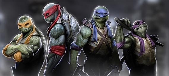 Arte conceitual das Tartarugas Ninjas 2014.
