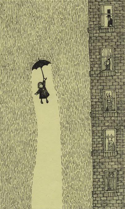 A escritora sonhadora voando